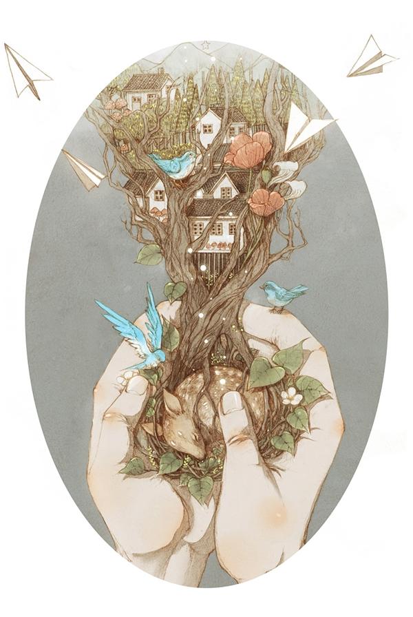 Fairy Illustrations by Jin Xingye