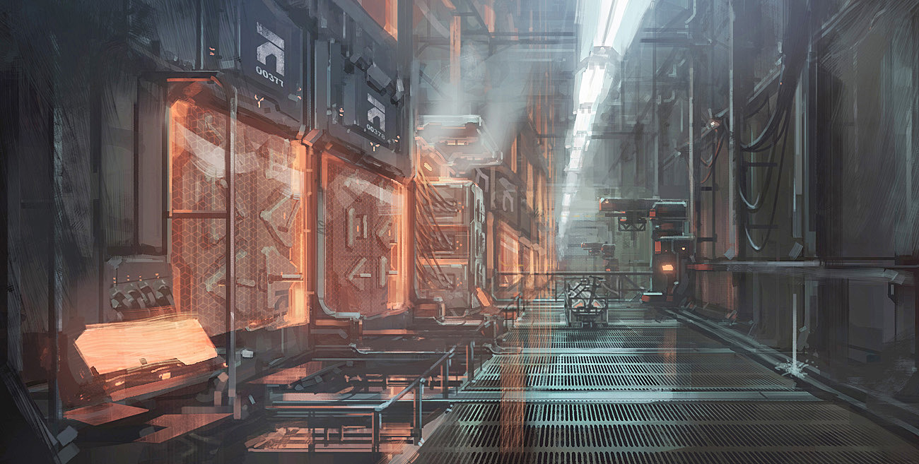 Killzone Shadow Fall Concept Art by Richard Dumont