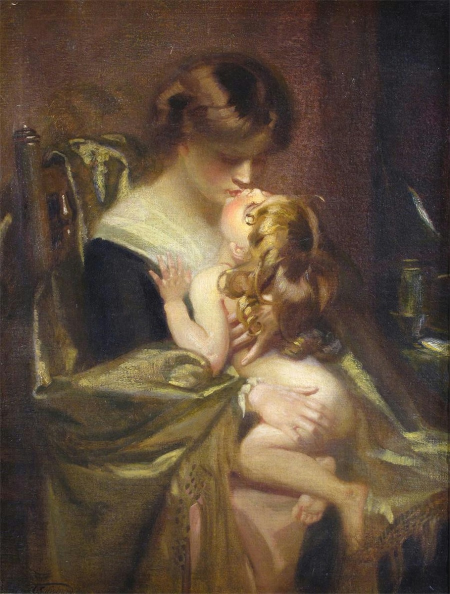 The mother's kiss.jpg
