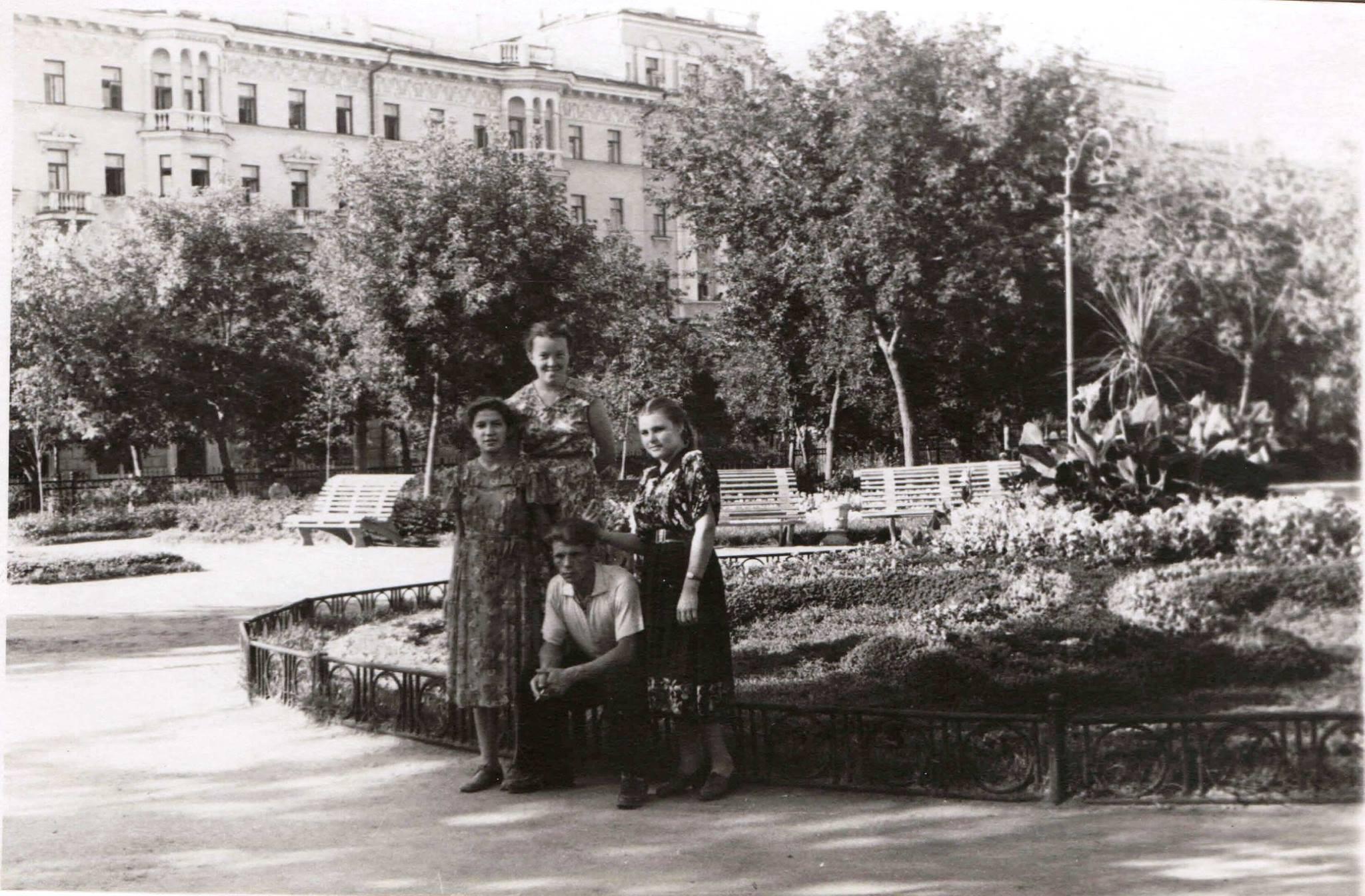 1958. Сквер Тукая, центральная клумба