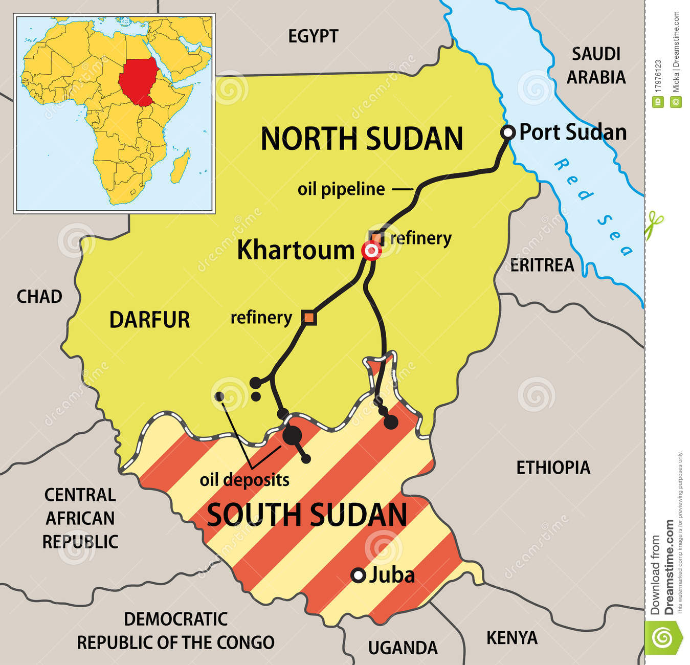http://www.dreamstime.com/stock-photos-sudan-political-map-image17976123