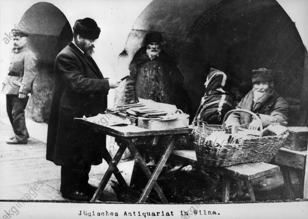 Jьdisches Antiquariat in Wilna / 1915 - Jewish second-hand bookshop Wilna/1915 -