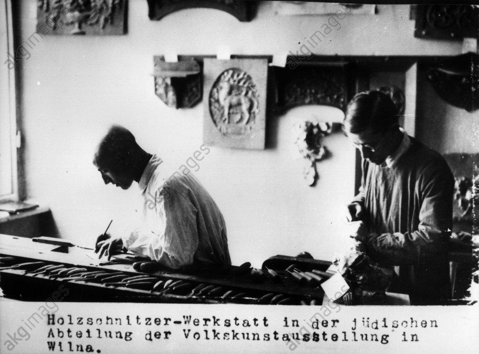 Jьdischer Holzschnitzer Wilna / 1915 - Jewish wood-carver Vilnius / 1915 -