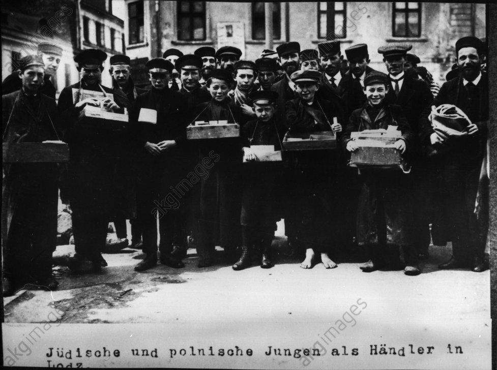 Jьdische und polnische Jungen in Lodz - Jewish and Polish boys in Lodz -