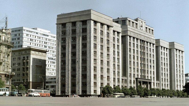 1970 Здание Госплана СССР на проспекте Маркса в Москве, архитектор Аркадий Лангман (построено в 1932-1935 гг.). РИА Новости.jpg