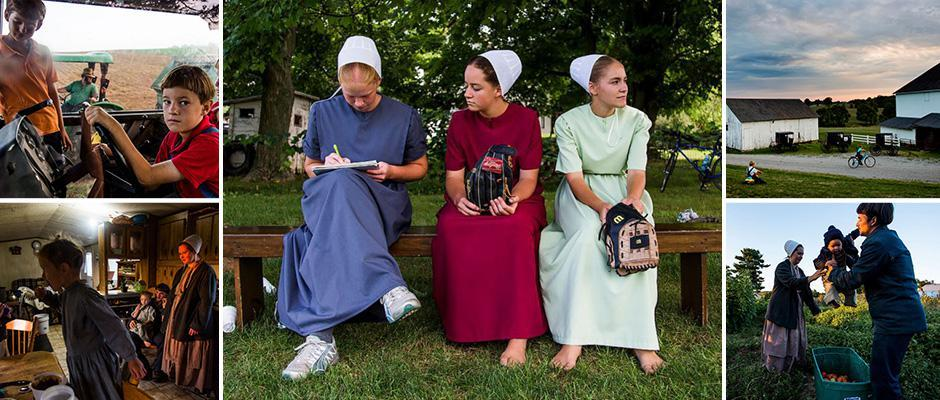 Modern life is rubbish: the photographer visited the Amish community