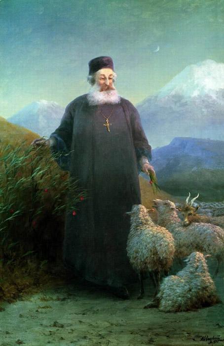 Католикос Хримян Айрик в окрестностях Эчмиадзина 1895 год