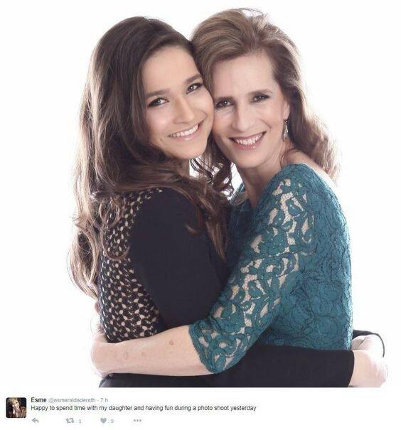 Мария Эсмеральда с дочерью Александрой