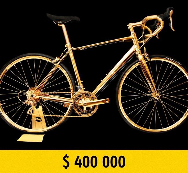 © goldgenie.com  Велосипед, который полностью покрыт 24-каратным золотом, стоит всего $  400