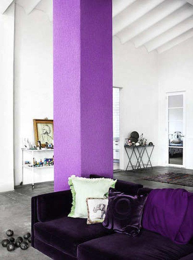 25. А если покрасить эти колонны в другой цвет, комната сразу же преобразится.