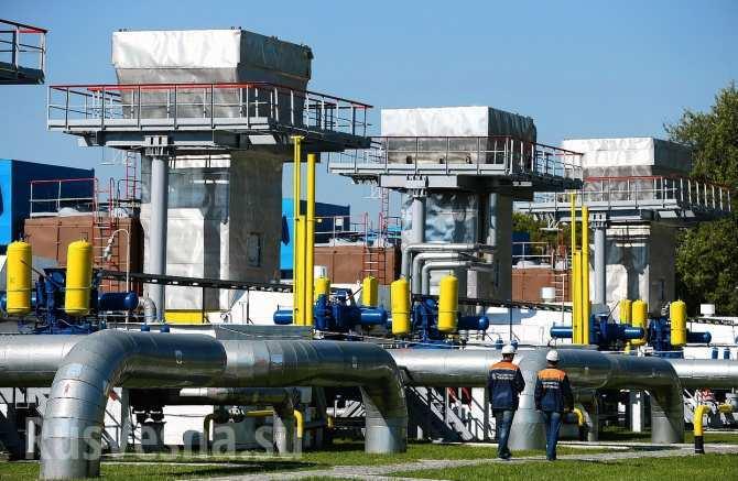 Запасы газа вПХГ Европы нарекордно низком уровне