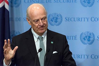 Власти Сирии отказались принять деМистуру