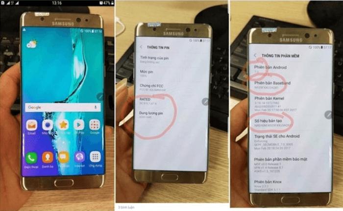 ВСеть слили первые кадры нового Самсунг Galaxy Note 7R