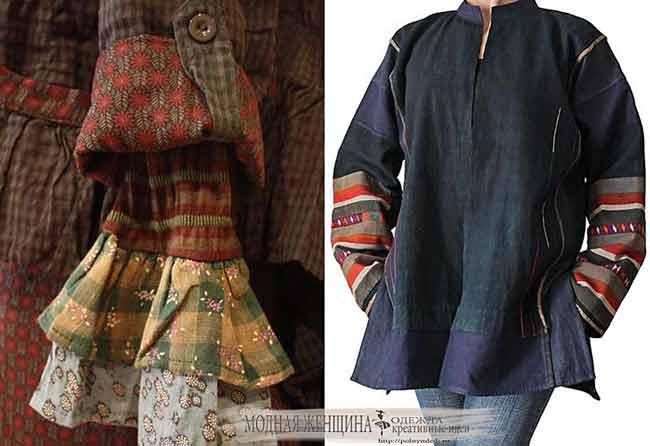 удлиняем рукава оригинальными вставками, переделка одежды