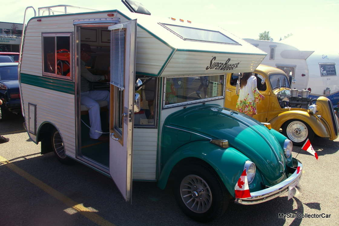 This Volkswagen Beetle RV from 1975 is simply adorable