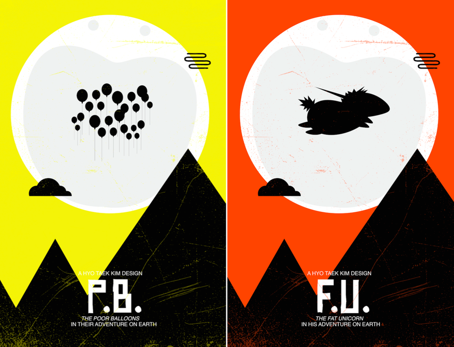 Illustrations of E.T. Parody Posters