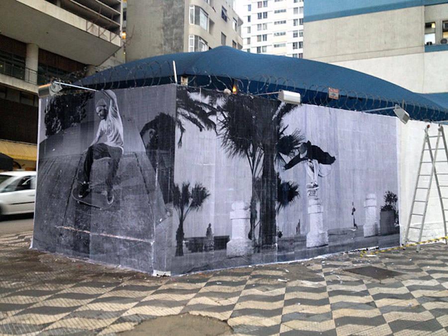 Striking Skateboarding Street Art Murals in Sao Paulo