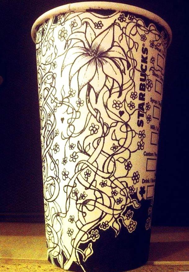 Quand un employe dessine sur les gobelets Starbucks…