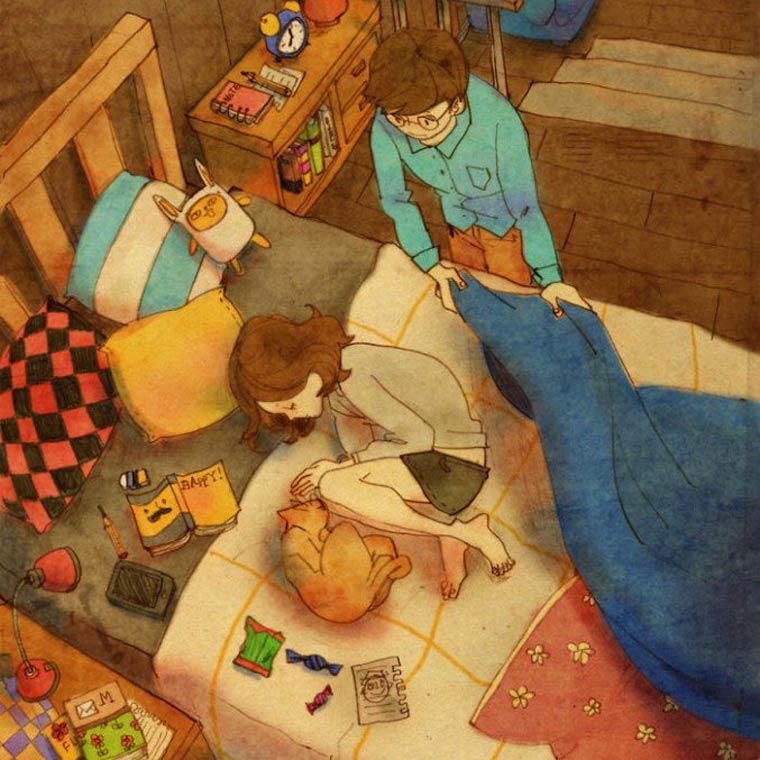 Love is - Les petits plaisirs de la vie de couple dans des illustrations adorables