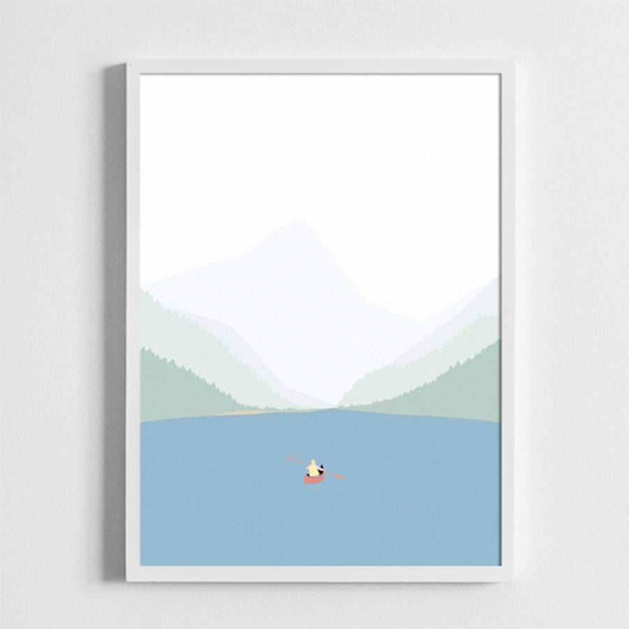 Daily Scenes and Landscapes Beautiful Illustrated Posters