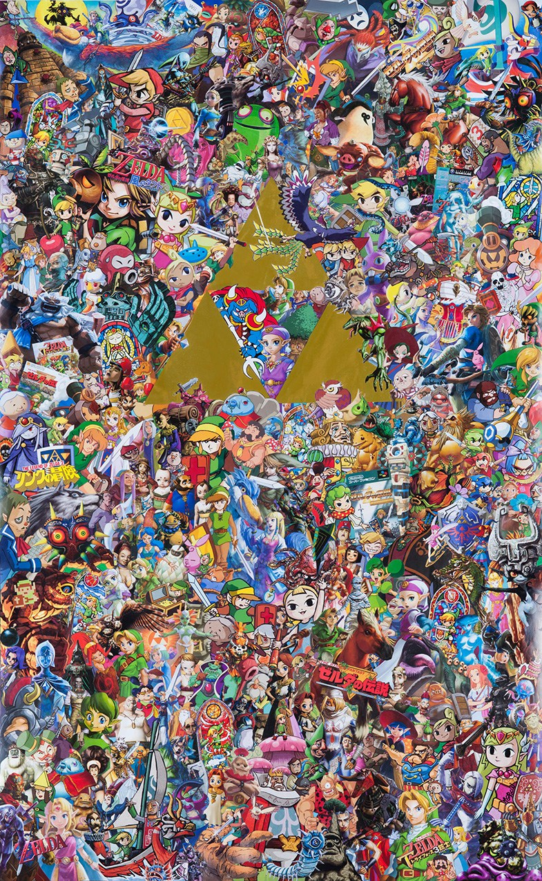 Memories of Zelda - The Incredible Collage Tribute to Nintendo's Saga by Mr Garcin