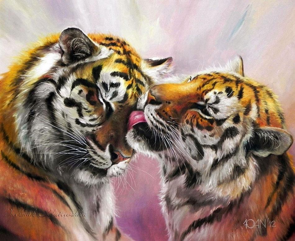Открытка любимому тигру