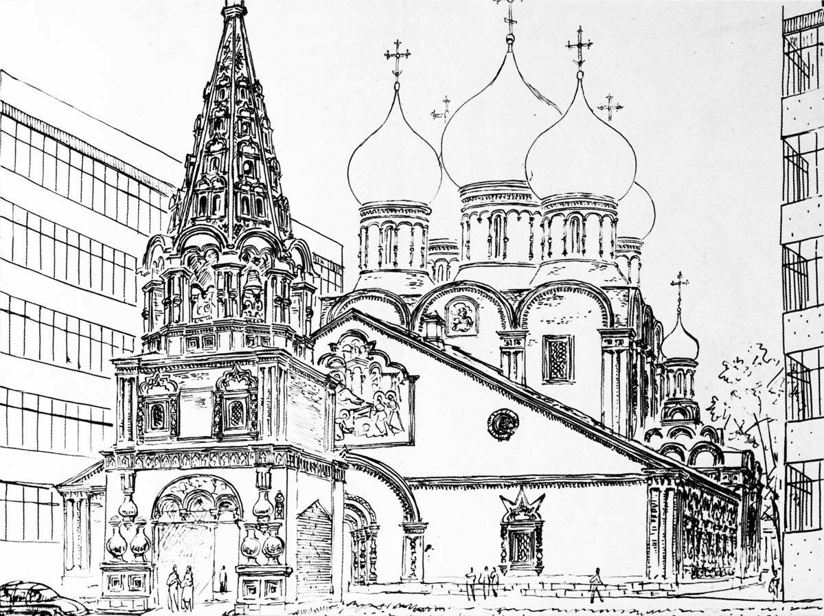 Церковь Рождества Богородицы в Бутырской слободе. Конец XVII в..jpg