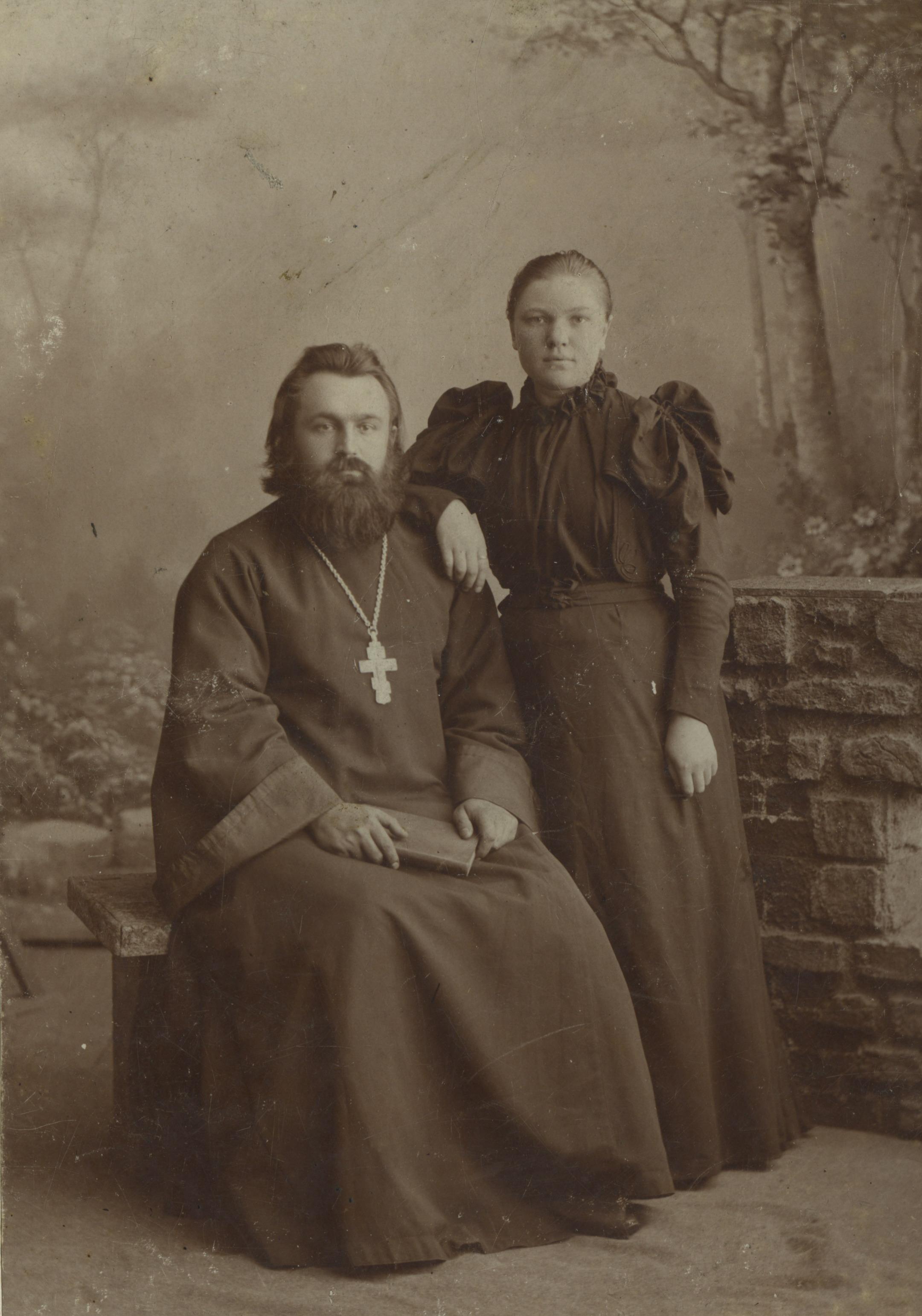 Священник Иван Иванович Скипетров с женой. Муром. 1910