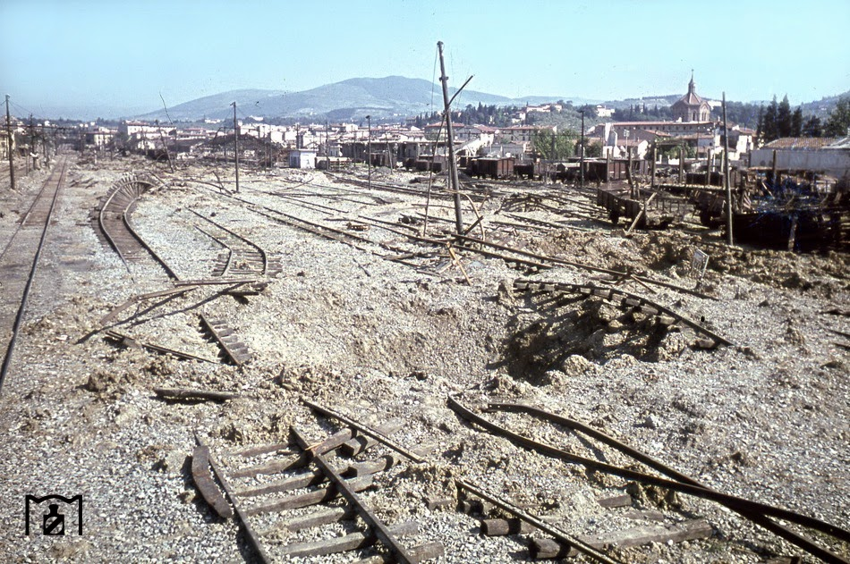 A picture of complete destruction offered this freight station in Florence after an Allied air raid1.jpg