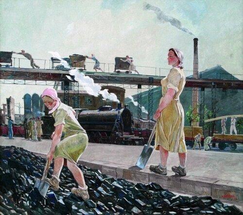 Дейнека Александр Александрович (1899—1969)  Донбасс 1947