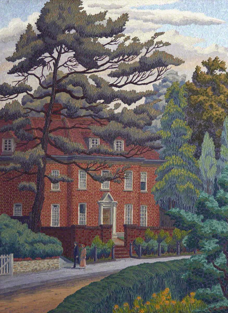 Ginner, Charles, 1878-1952; Red Brick House