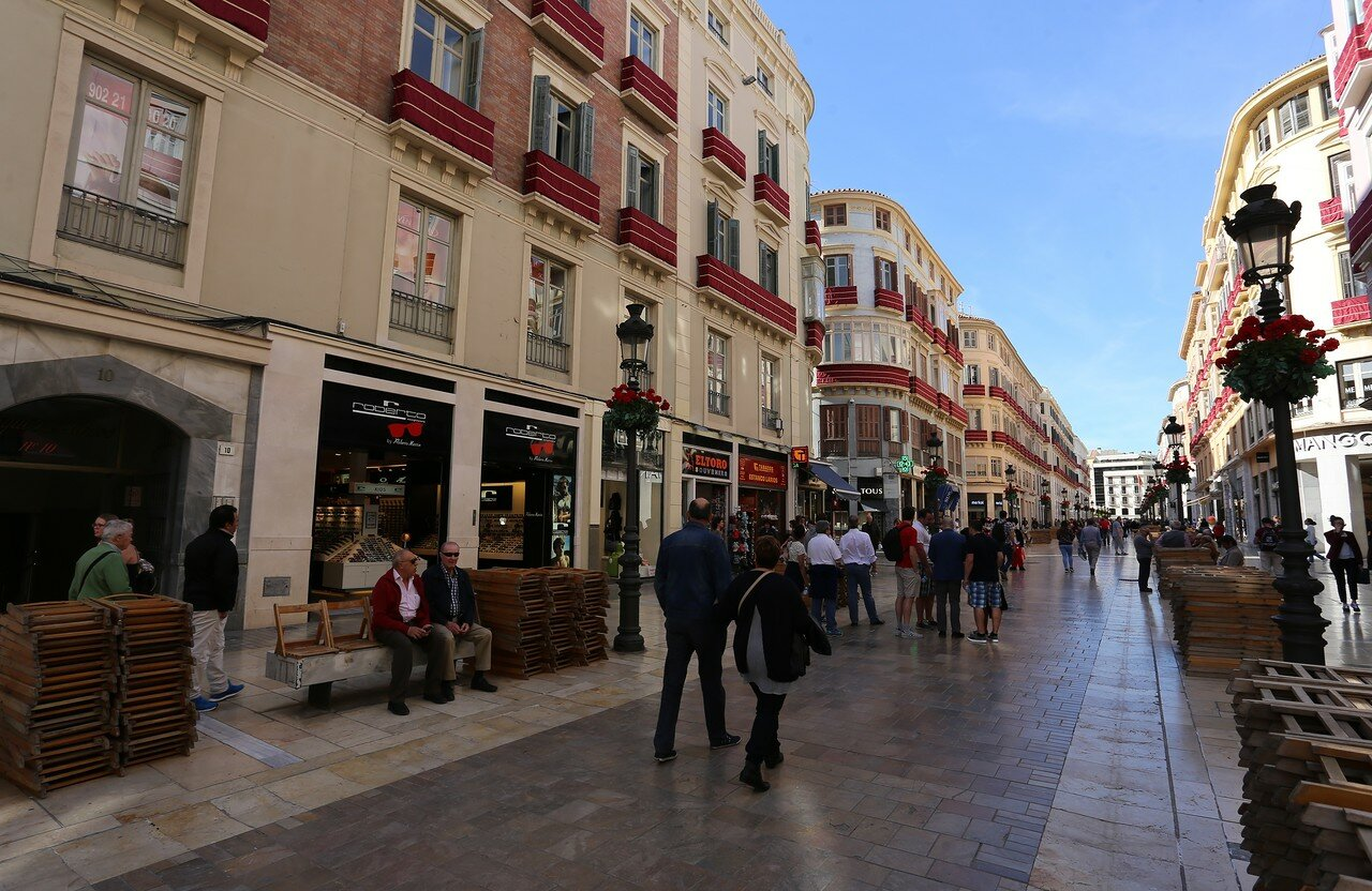 Малага. Улица Маркиза Лариоса (Calle Marqués de Larios)