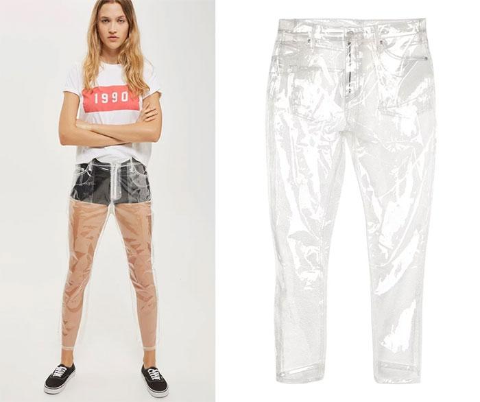 Пластиковые штаны от Top Shop.