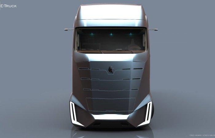 Вместо огромных зеркал заднего вида в КАМАZ E-Truck установлены камеры.