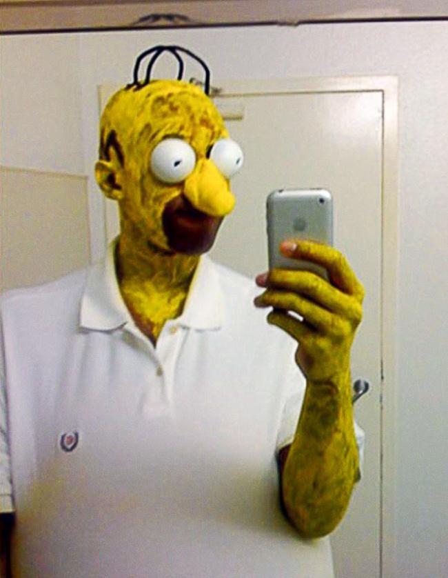 Гомер после аварии на ядерной электростанции.