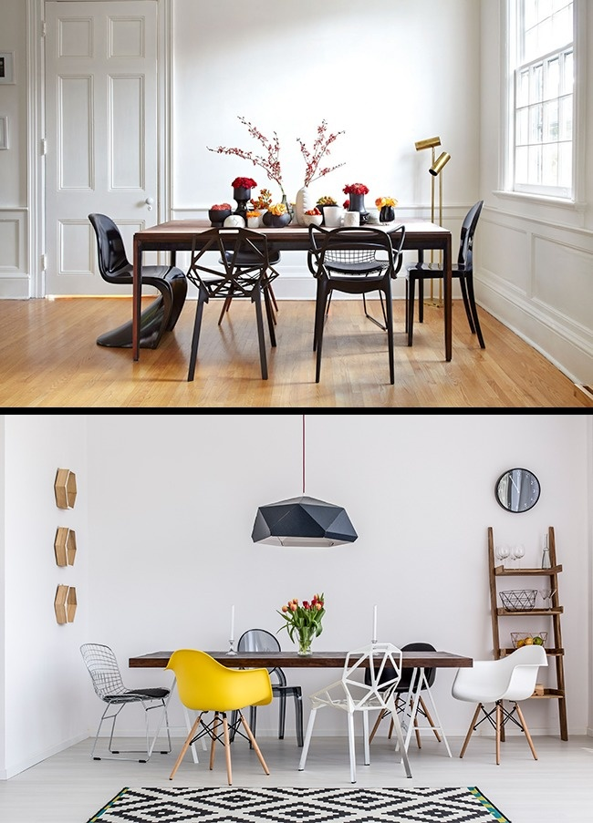 © stephanechamard  © depositphotos  Одинаковые стулья вокруг обеденного стола— прием ск