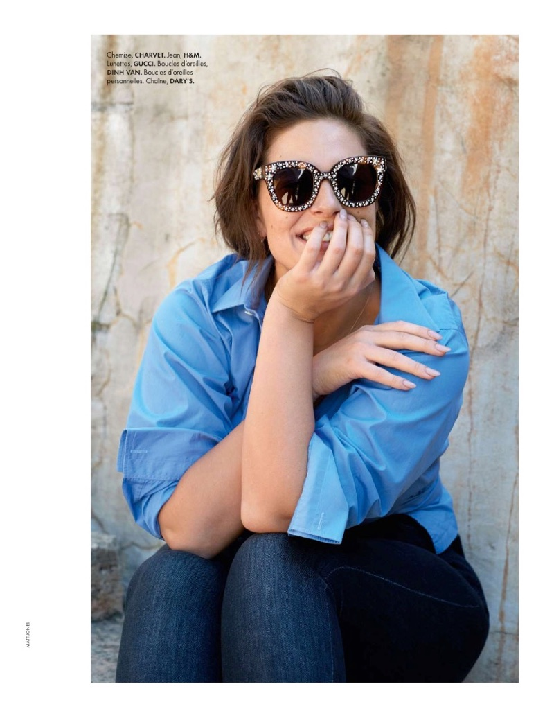 Эшли Грэм на обложке ELLE France