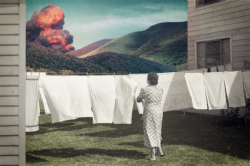 Joseba Elorza is a sound technician who makes a living with his unique brand of digital collage and