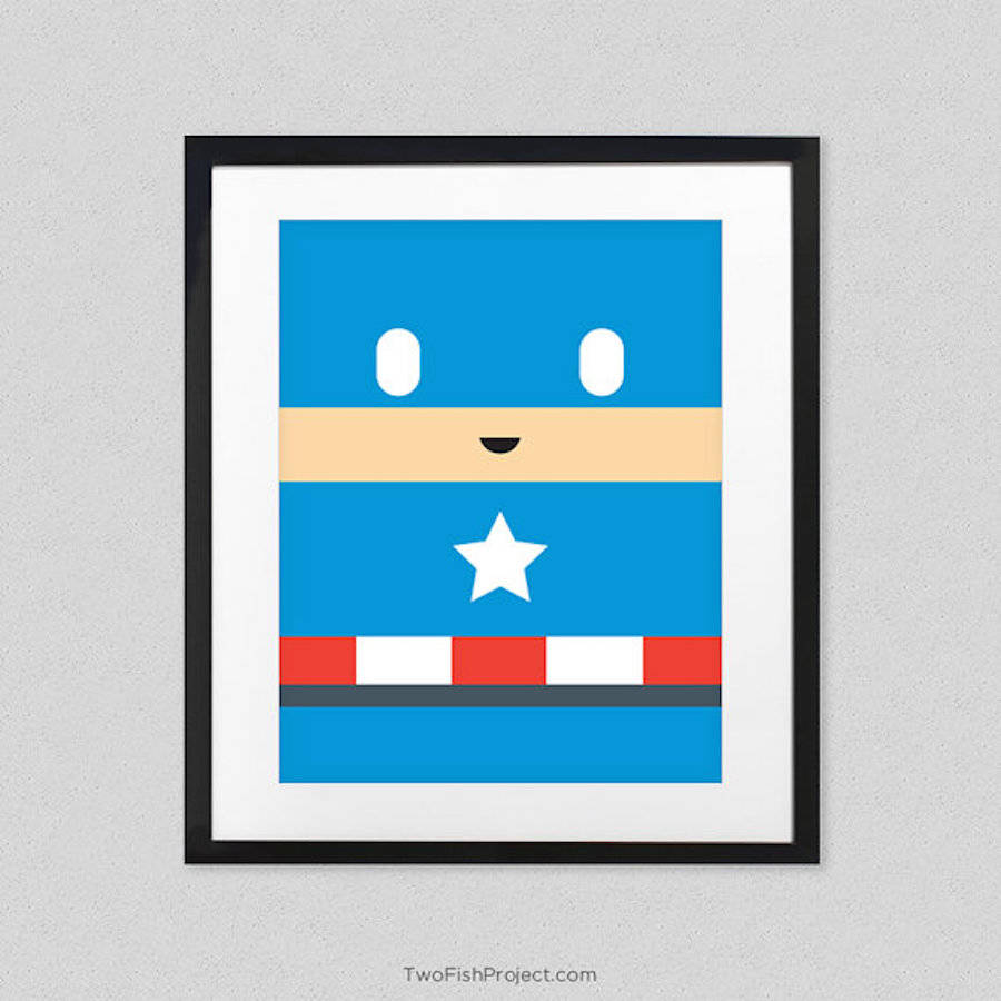 Cute and Minimalist Posters of Superheroes and Princesses (13 pics)