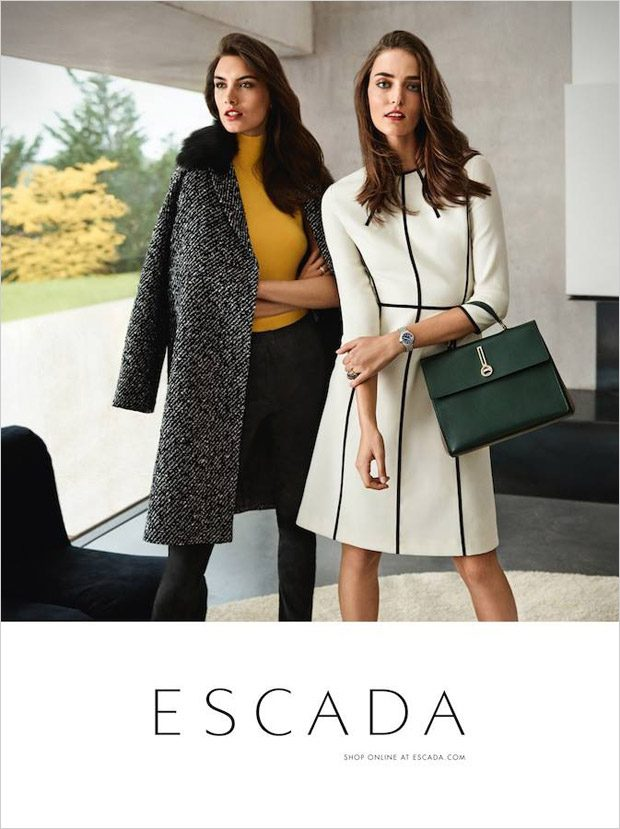 Ronja Furrer & Zuzanna Bijoch Model Escada Fall Winter 2017 Collection