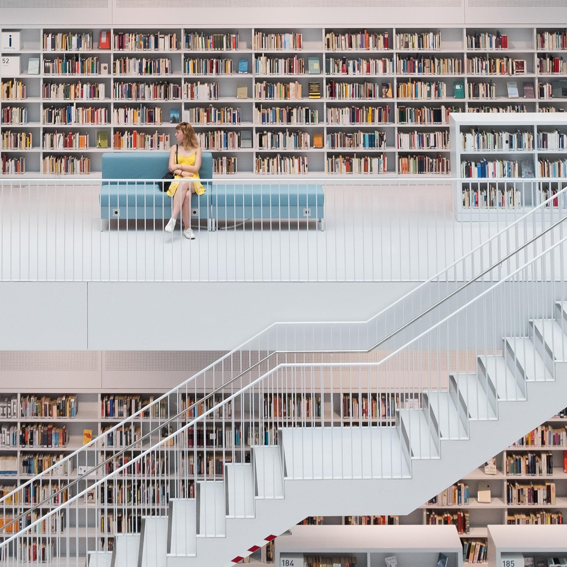Peaceful Library in Stuttgart by Skander Khlif