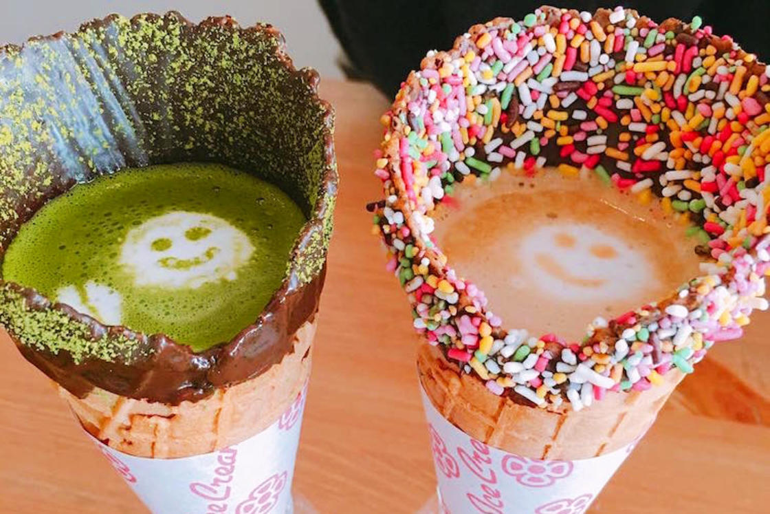 Coffee Cone - In Tokyo, this cafe serves tea and coffee in crispy cones