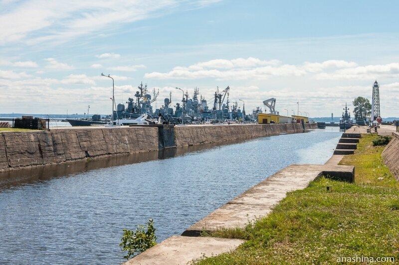 Усть-Рогатка и канал Петра Великого, Кронштадт