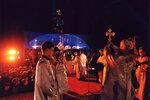 Рождество Христово. Молебен на площади Победы перед началом фейерверка.