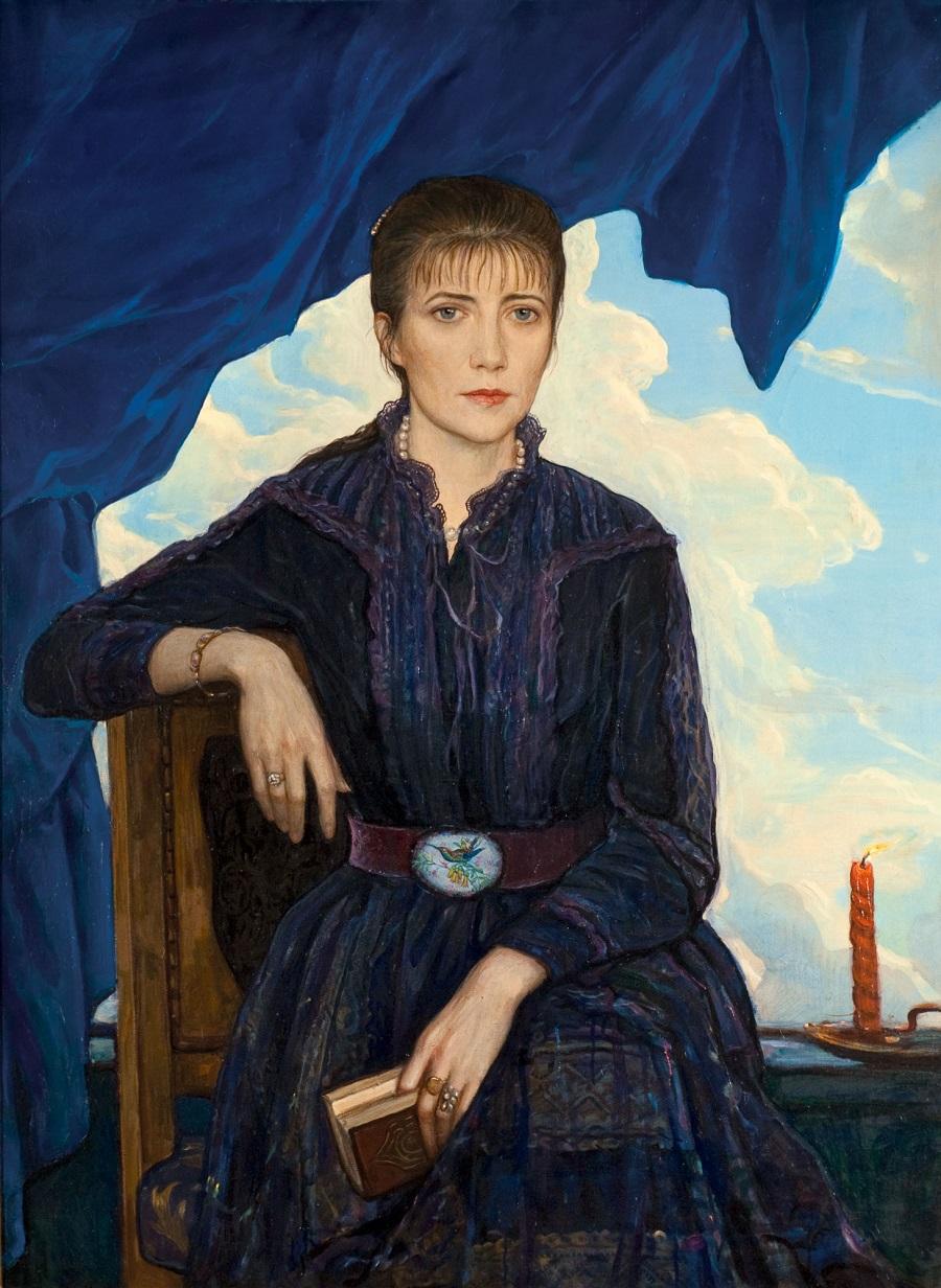 Нина. Портрет жены художника   1980 год.