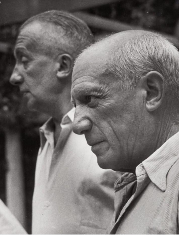 1950. Пикассо и Поль Элюар. Ницца
