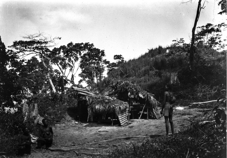 1262. Женшины возле хижин на острове Лонг