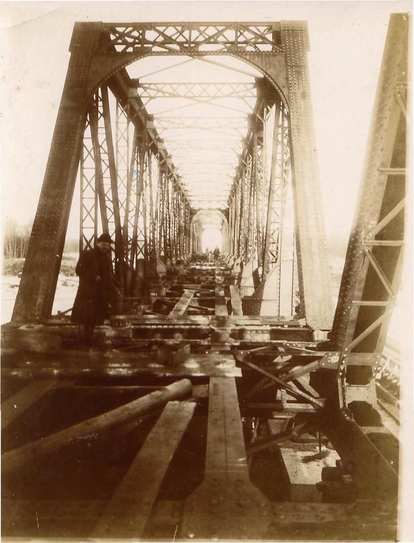 Строительство железно-дорожного моста через реку Черемшан
