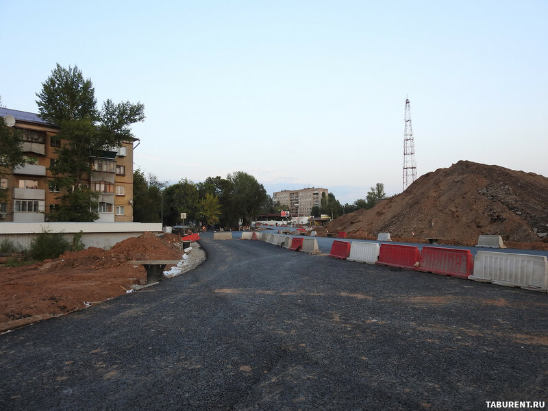 Ход строительства кольца на ул. Луначарского