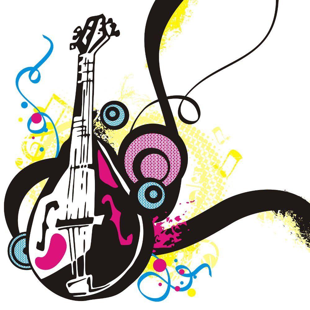 Открытки. День музыки. Стилизованное изображение